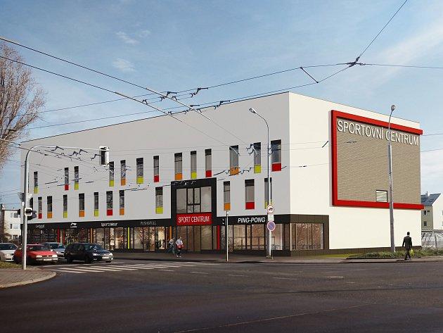 Vizualizace nové sportovní haly v ulici Tuřanka v brněnských Tuřanech.