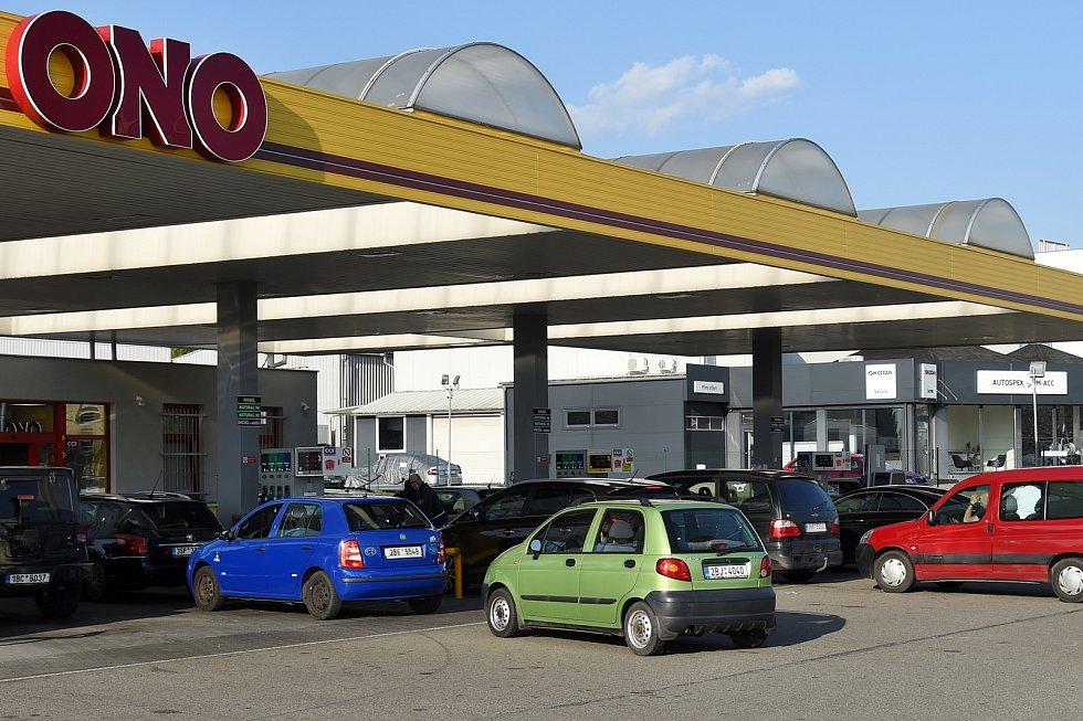 Brno 17.4.2020 - čerpací stanice ONO v Brně Slatině
