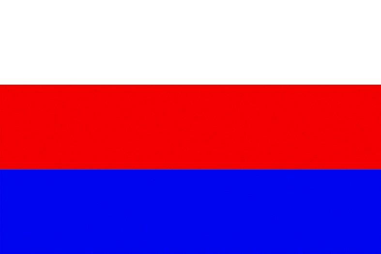 Trikolóra s bílým, červeným a modrým pruhem. Jedna z podob vlajky Moravy ve slovanských barvách. Za svou ji bralo slovanské obyvatelstvo Moravy v devatenáctém století. Třeba na Slovanském sjezdu v roce 1848.