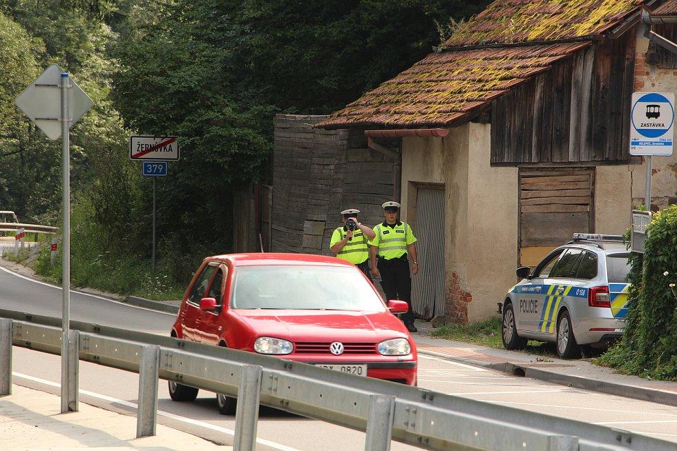 Policejní měření při Speed Marathonu na jihu Moravy.