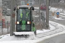 Sníh přivítal v novém roce i Brňany.