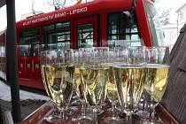 Jedním ze symbolů partnerství Brna a Lipska je i speciální tramvaj.