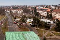 Náměstí Míru v Masarykově čtvrti v Brně.