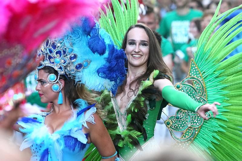 Brno 31.7.2020 - karnevalovým průvodem začal Brasil Fest Brno