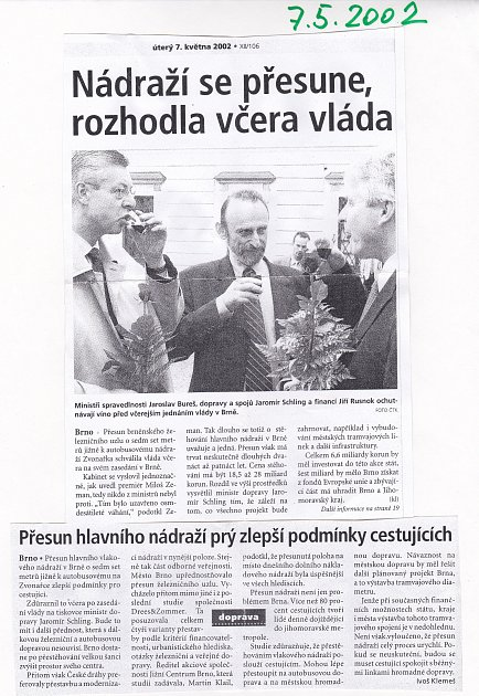 Archivní stránka Deníku Rovnost.