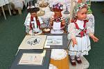 Výstava ručních prací v Újezdě z Brna.
