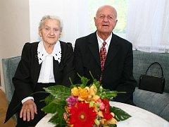 Jaroslav a Růžena Svobodovi oslavili platinovou svatbu.