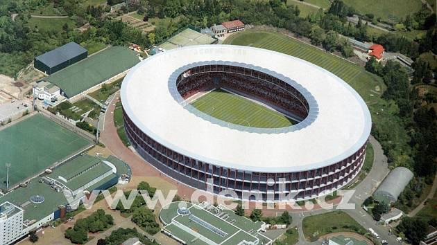 Vizualizace sportovního stadionu za Lužánkami