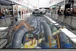 3D obrazy mohou spatřit návštěvníci obchodního centra Olympia Brno v Modřicích.
