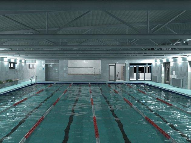 Pětadvacetimetrový bazén v brněnských Řečkovicích bude sloužit jak sportovcům, tak rekreačním plavcům.
