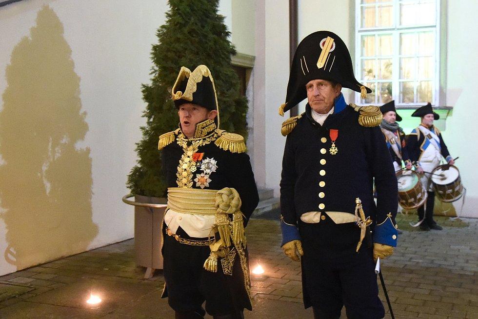 Císař Napoleon Bonaparte převzal od primátorky Markéty Vaňkové klíč od města Brna.