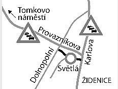 Na mapě Brna vypadají nenápadně. Uzavírky Světlé a části Dolnopolní ulice však mají vbrněnských Maloměřicích na svědomí dopravní kolaps. Až dvoukilometrové kolony trápí řidiče denně.