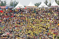 Motocyklovou Velkou cenu v Brně navštívil rekordní počet diváků.