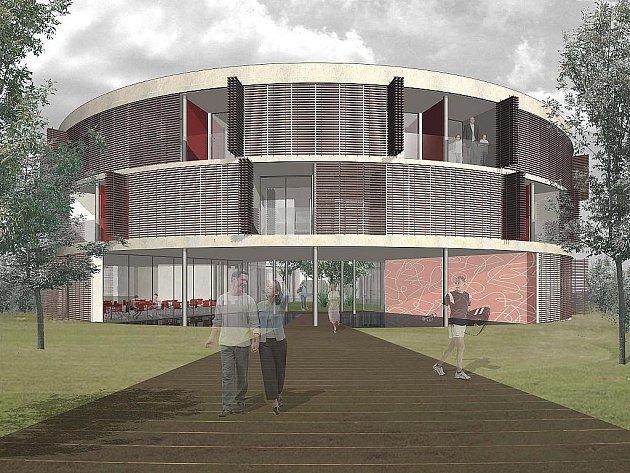 Vizualizace plánovaného společenského centra v brněnské městské části Starý Lískovec.