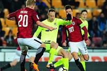 Fotbalové utkání HET ligy mezi celky AC Sparta Praha a FC Zbrojovka Brno.