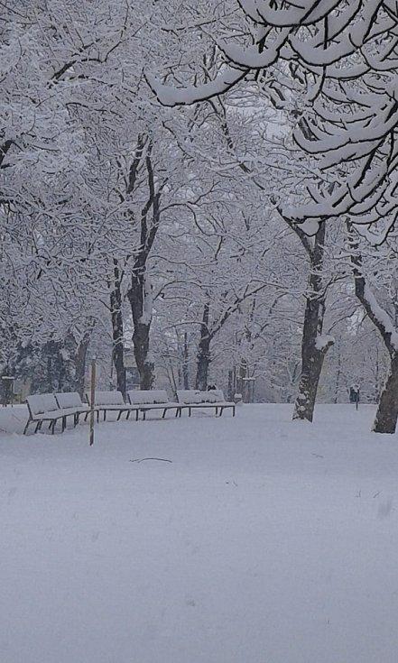 Jižní Morava pod sněhem.