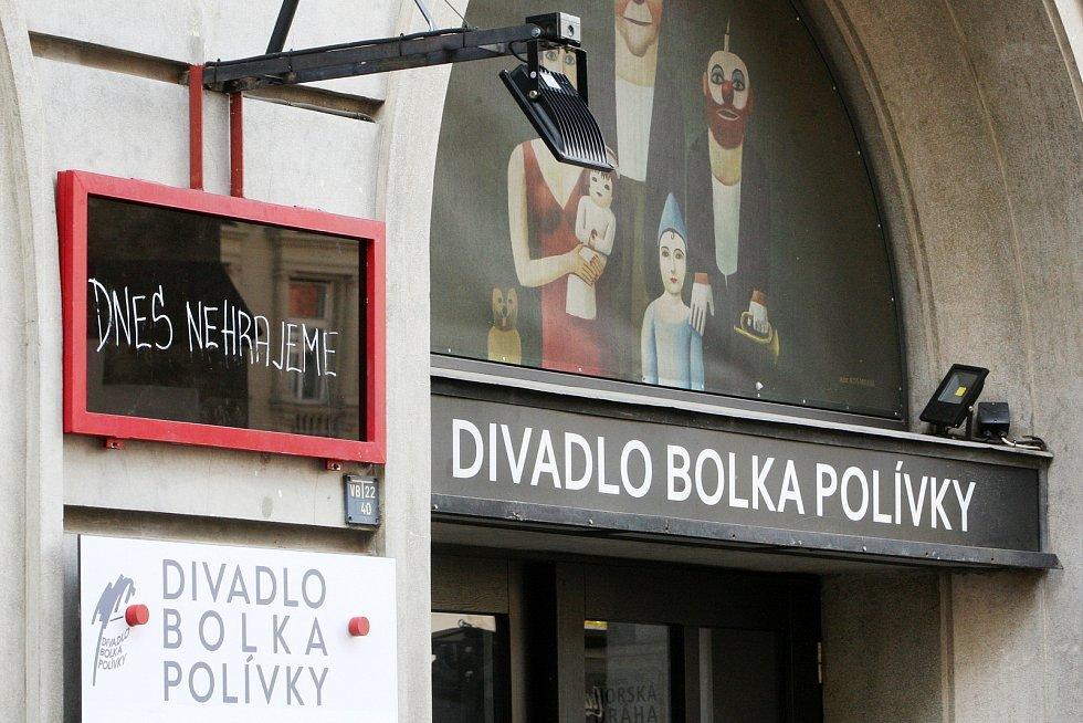 Brno v době opatření proti koronaviru - Divadlo Bolka Polívky