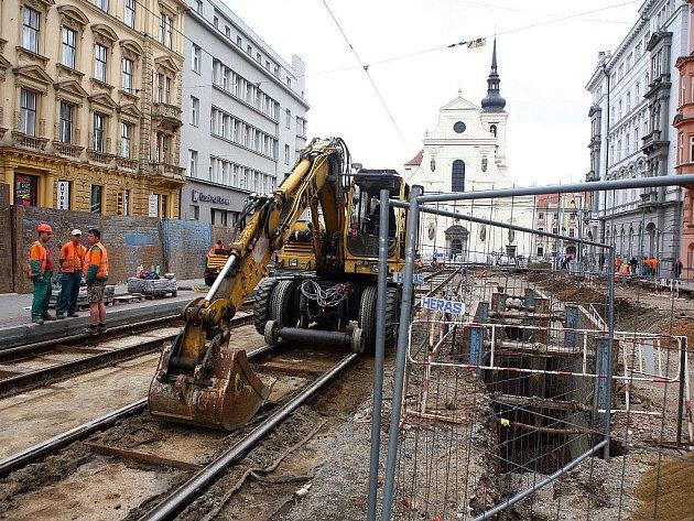 Rekonstrukce Joštovy ulice v Brně.