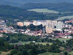 Letecký pohled na Kuřim. Ilustrační foto.