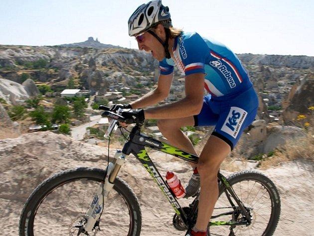 Biker Milan Spěšný na evropském šampionátu v Turecku.