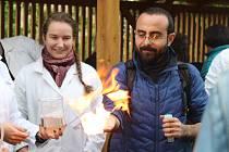 V brněnské Otevřené zahradě se uskutečnil druhý ročník akce Science párty. Akce má lidem přiblížit vědu zábavným způsobem. Letošním tématem byla voda.