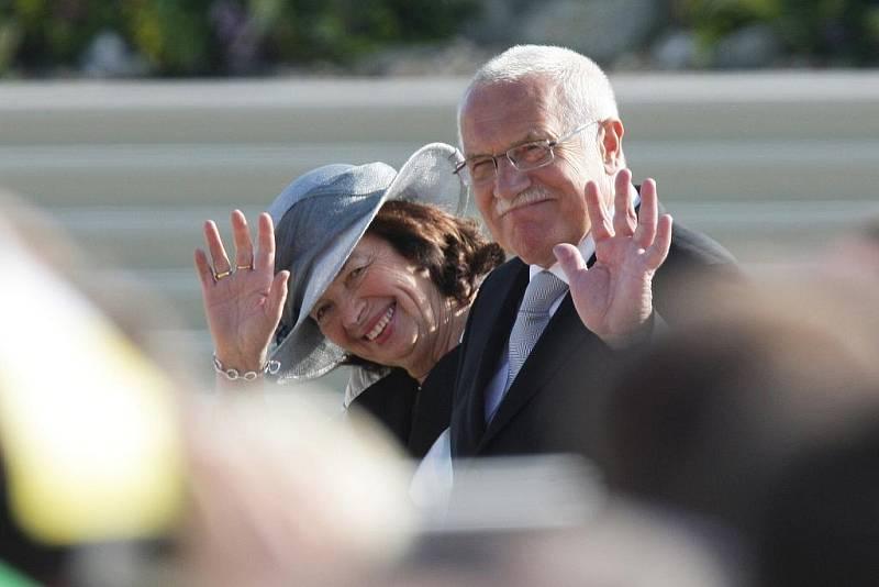 Václav Klaus s manželkou Livií.