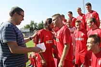 Fotbalisté brněnské Zbrojovky se fotili před novou sezonou.