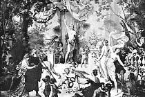 Původní opona - gobelín - Mahenova divadla