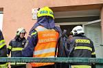 Pondělní požár domu v brněnských Žabovřeskách. Předběžná škoda je milion korun.