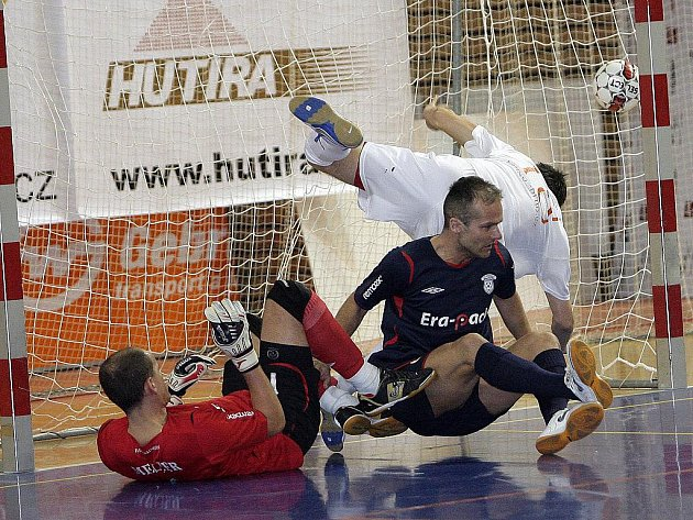 Futsalisté brněnského Tanga proti Chrudimi.