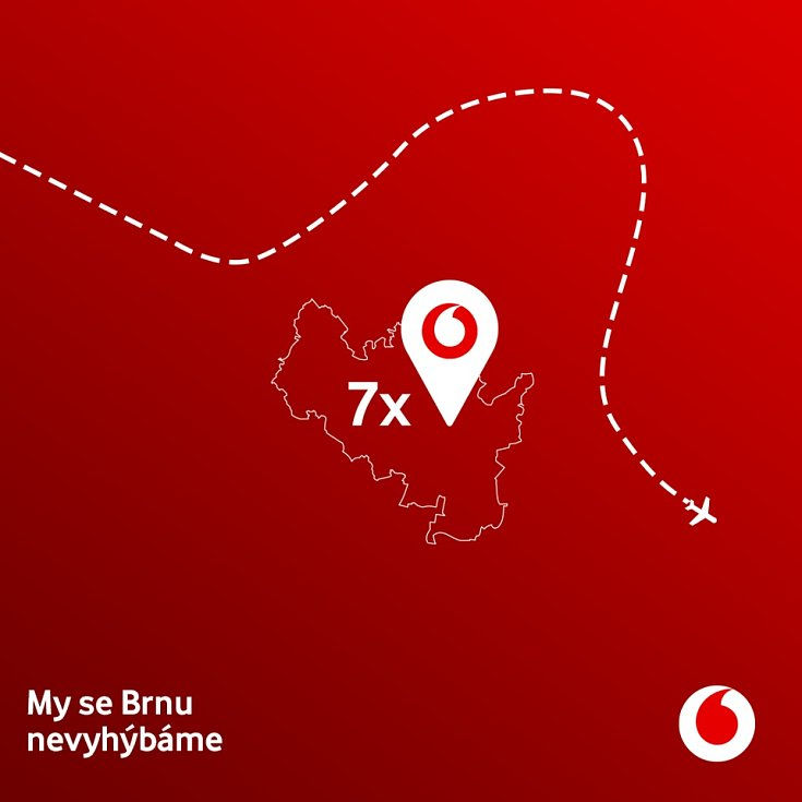 My se Brnu nevyhýbáme. Vodafone