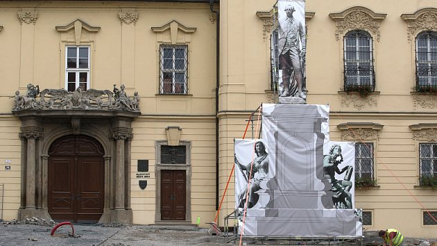 Rekonstrukce Dominikánského náměstí v Brně.