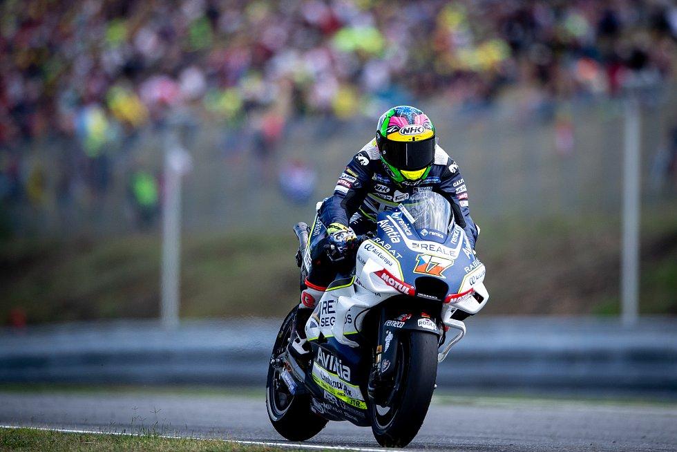 Finálový závod MotoGP Velká cena České republiky, závod mistrovství světa silničních motocyklů v Brně 4. srpna 2019. Na snímku Karel Abraham (CZE).