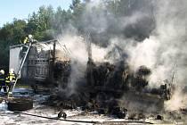 Požár kamionu na D1