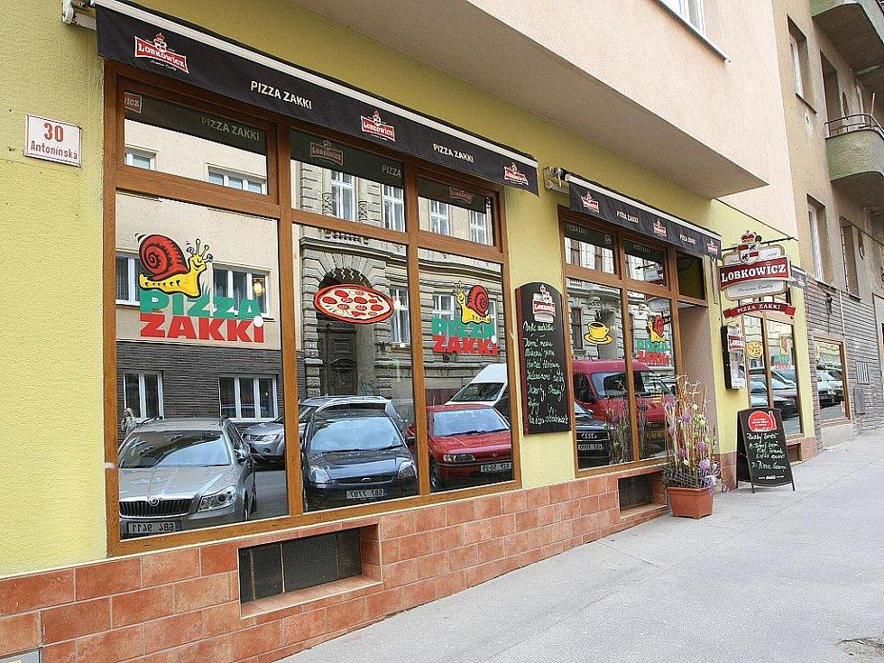 Pizzerie v Antonínské ulici v Brně Zakki.