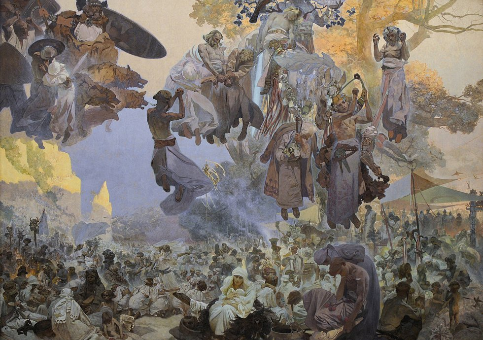 Slavnost Svantovítova na Rujáně, Alfons Mucha.