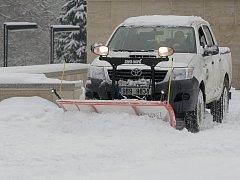 Sníh zkomplikoval dopravu na celé jižní Moravě.