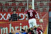 Sparta Praha - 1.FC Brno, druhá branka Brna.