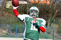 Quarterback Alligators Brno Tomáš Fortelný.