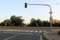 Křižovatka se stala dějištěm nehody.