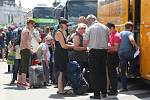 Brno 19.6.2019 - autobusové nádraží u Grandu