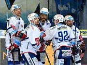 Několik pohledů na třetí zápas hokejového čtvrtfinále Kometa Brno vs. Hradec Králové.
