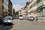 Spodní část ulice Údolní v Brně.
