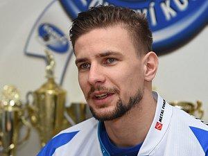 Brankář Marek Langhamer je posilou Komety Brno.