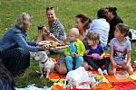 Akce Česko jde spolu na piknik vyzvala lidi z různých míst naší země, aby pořádali ve stejný čas piknik. Na snímku setkání v Teplicích roku 2019.