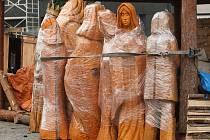 Dřevěný betlém na Zelném trhu.