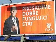 Volební štáb ČSSD 26. října v Praze. Michal Hašek, Bohuslav Sobotka