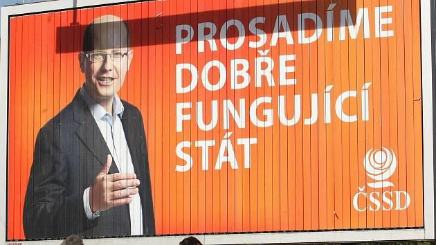 Předvolební billboard v Jihomoravském kraji.