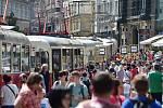 Dopravní nostalgie na náměstí Svobody v Brně