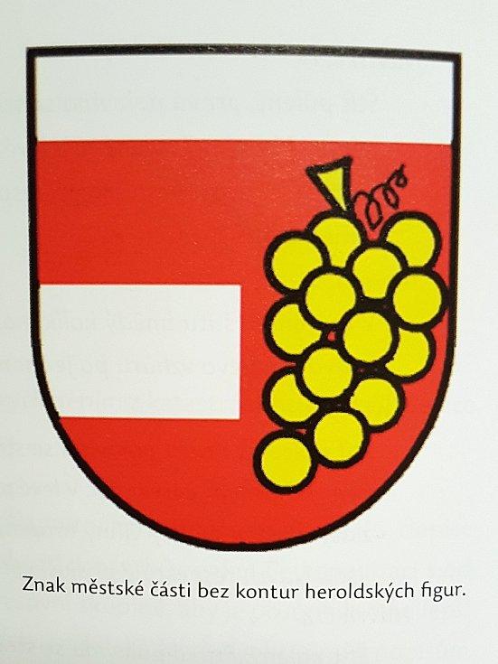 Znak městské části Brno-Vinohrady bez kontur